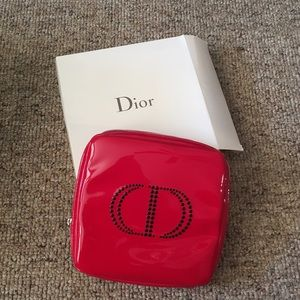 NWOT Dior red makeup pouch
